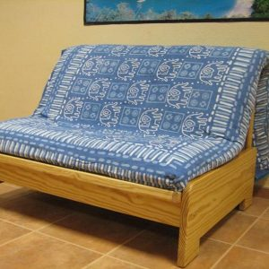 Sofá Fold Bed de 160 con Futon de Algodón