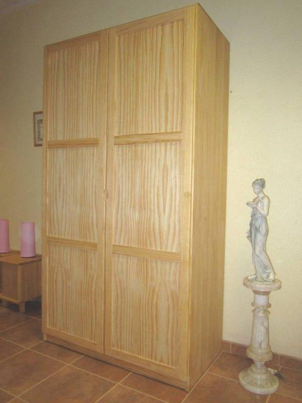 Armario Puertas Abatibles de 120 Madera Maciza