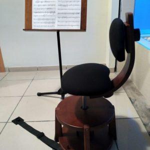 Silla Musical Ergonómica color Nogal