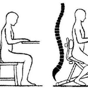 Comparación posturas sentado
